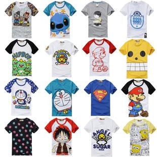 卡通女式服装可爱韩版情侣装夏机器叮当猫衣服印花哆啦a梦短袖t恤