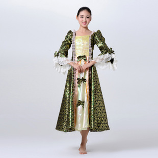 批发女式 欧式宫廷公主服装 欧洲宫廷女士礼服 舞台演出服