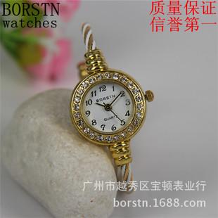 尚礼品高档名牌品牌女士广州学生女款石英手表钟表批发-BORSTN宝