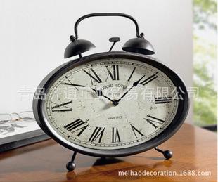 欧式复古风格闹钟造型座钟