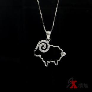 925银饰2015新年小棉羊微镶项链小羊项链(联塑v银饰图片