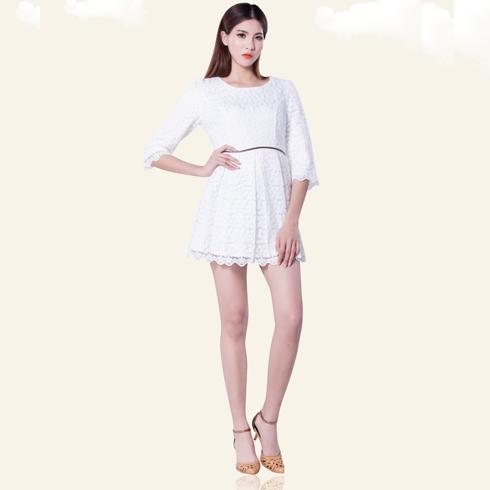 卡仙奴女装产品-蕾丝春款连衣裙