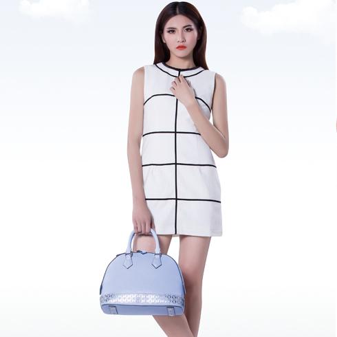 卡仙奴女装产品-无袖格子背心裙