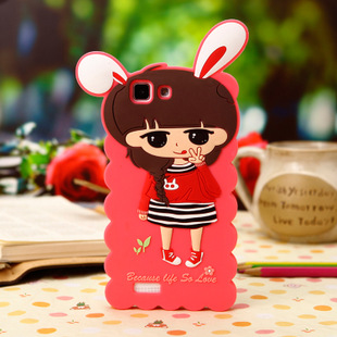 韩款创意小米4小希硅胶手机壳 手机套 可爱小米手机保护套 批发