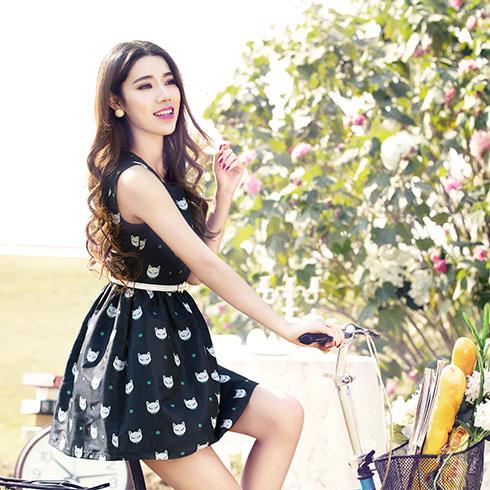 阿珍妮女装产品-高档真丝连衣裙