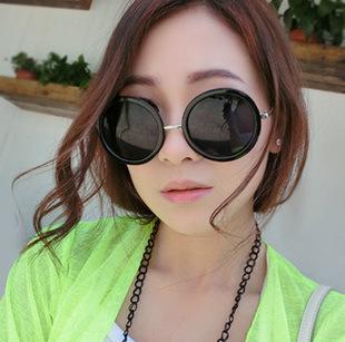 mj-2234特价韩国vintage墨镜 大圆形眼镜太子镜可爱圆框太阳眼镜