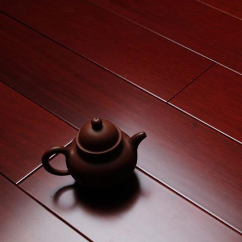 番龙眼红檀色地板