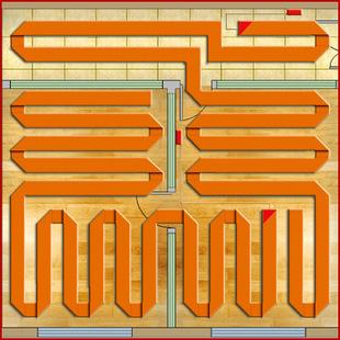 无接头式电热视频供暖系统电热膜电地暖地热地膜头屑图片