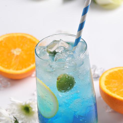 臻好时冻酸奶-蓝柑气泡水