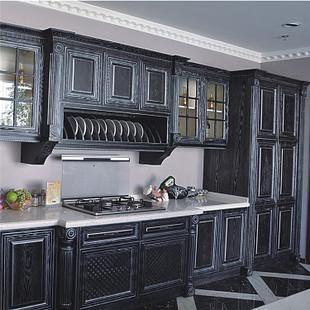 厂家直销别墅实木整体家具开放厨房橱柜鑫盛家具加工