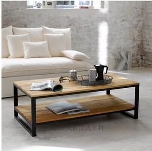 美式客厅LOFT乡村喷头复古工业实木风格茶几么需要家具城消防铁艺图片