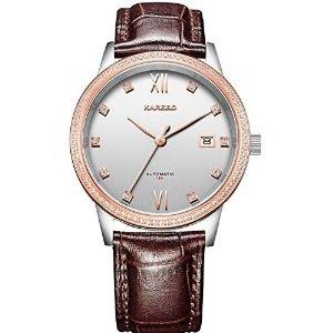 品牌手表 男女石英表 真皮精钢防水手表 时尚商务男女士手表-卡诺手表
