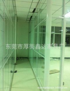 广州办公家具隔断办公屏风特点高隔断隔墙定做贴玻璃木皮家具图片