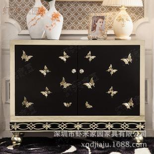 虾米家园 欧式鞋柜 新古典玄关柜 实木柜子 烤漆 定做 客厅家具图片