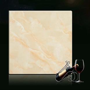 【福米陶瓷】佛山瓷砖热销欧式米黄色仿大理石微晶石地板砖瓷砖