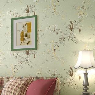 美式复古花鸟壁纸