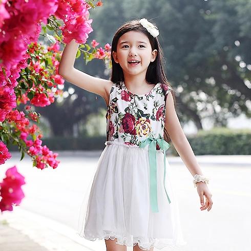 米琪派童装-白色小纱裙