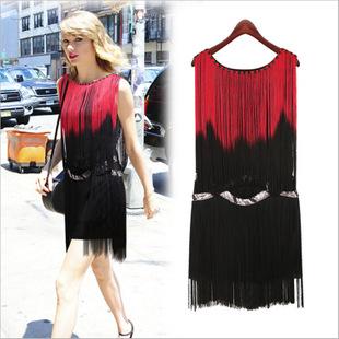 欧美女装 夏季新款 纯色雪纺连衣裙 厂家批发 一件代发 爆款 包邮