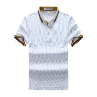 2015新品夏装商务男士短袖t恤中年男式纯色短袖t恤衫品牌男装批发