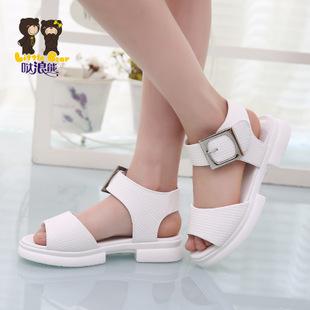 童凉鞋 韩版新款2015年夏季女童鱼嘴鞋 一件代发