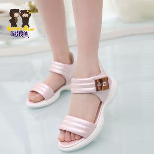 凉鞋 平跟正品2015年新款夏季韩版时尚女童凉鞋一件代发