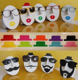 摆放贴墙艺术脸谱太阳镜眼镜展示架的帽子男款黑色女