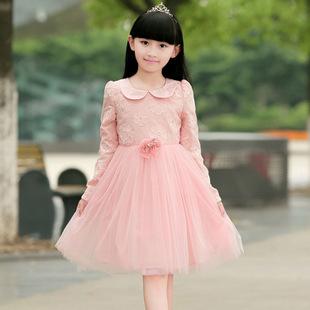 童_米迪童 春秋装女童纱裙童装女童长袖连衣裙女童公主裙子 一件代发