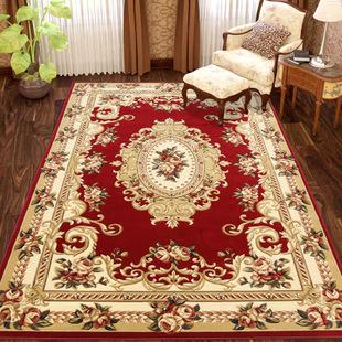 厂家直销客厅茶几地毯 卧室床边地垫 欧式现代简约手工雕花地毯