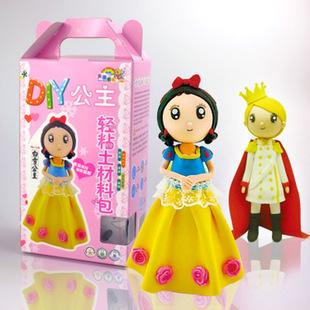 新款公主系列礼盒装 无毒纸粘土diy益智玩具批发橡皮