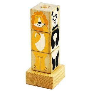 木制拼图玩具早教益智玩具积木塔