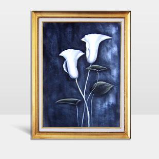 纯手绘油画 现代花卉装饰画