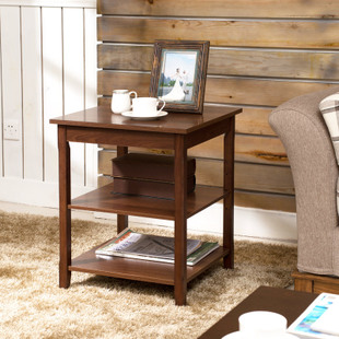 美哲思 正方形角几/边几简约沙发边桌实木板式灯几 咖啡几小茶几
