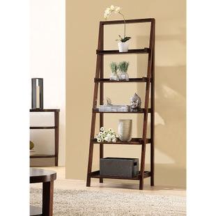 简约客厅靠墙装饰架实木板式置物放书架子