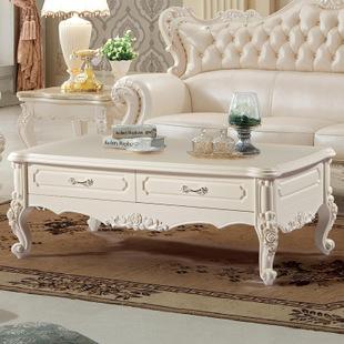 欧式板式客厅家具茶几 板式雕花大理石茶几欧美时尚客厅家具茶几