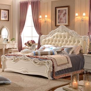 欧式家具 欧式床 象牙白实木欧式田园公主床 厂家直销一件代发货