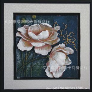 厂家直销浮雕树脂画 装饰画客厅墙画酒店花卉欧式