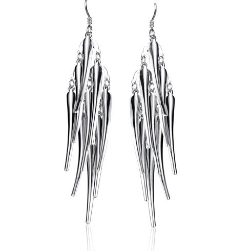 v6银饰波西米亚耳环