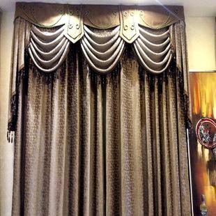 2015新款高端大气欧式风格高档雪尼尔窗帘厂家