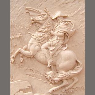 拿破仑砂岩浮雕 玻璃钢仿铜浮雕 仿汉白玉浮雕背景 欧式景观雕塑