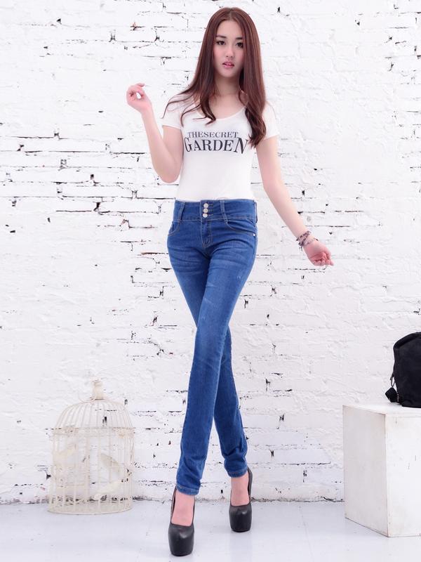美酷思服饰-高腰牛仔裤
