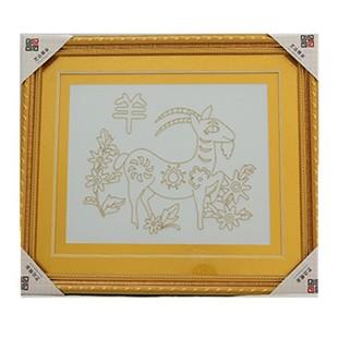 十二生肖装饰画 金丝画金属 热销工艺品 高档礼品 创意家居摆件图片