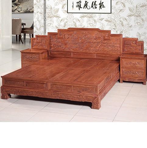 檀宗红木床