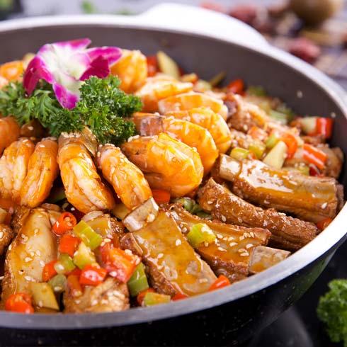一品大虾 干锅排骨虾