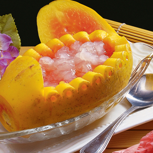 谷蔬果功能饮吧-木瓜炖雪蛤