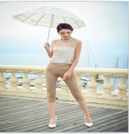 纽曼之城女装-修身显瘦高腰小脚裤