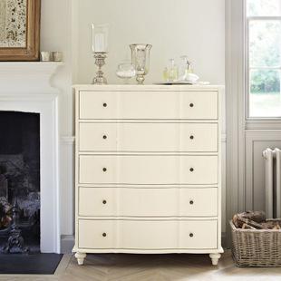 简约现代欧式白色五斗柜做旧卧室储物柜斗柜整装现货