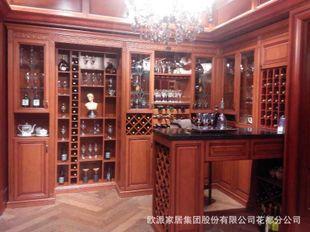 欧派定制整体欧式风格酒柜图片