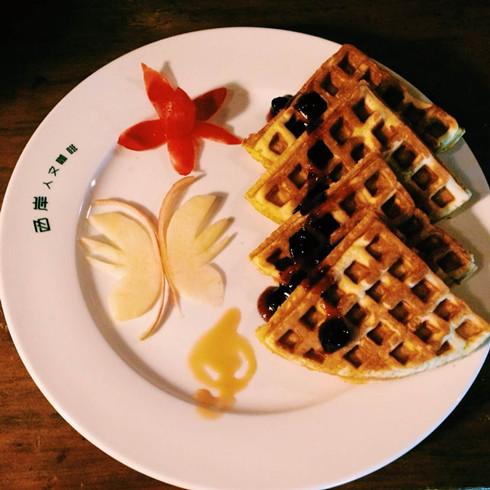 西岸人文咖啡-华夫饼