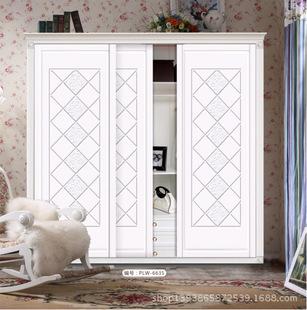 普罗旺衣柜门欧式新款推拉门雕刻软包移门可定做