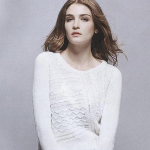 阿莱贝琳白色长袖